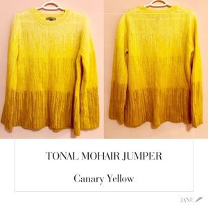 COS | TONAL MOHAIR JUMPER | Canary Yellow | SIZE M